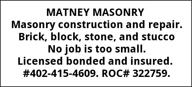 Masonry Construction and Repair