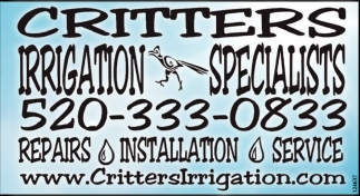 Irrigation Specialist!