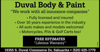 We work with all insurance companies
