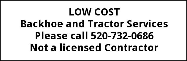 Low Cost Backhoe Services