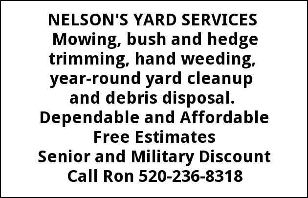 Mowing, Bush and Hedge Trimming, Hand Weeding, Yard Debris Cleanup and Removing