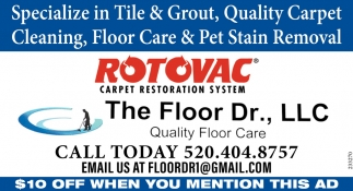 Specialize in Tile & Grout, Quality Carpet Cleaning, Floor Care & Pet Stain Removal